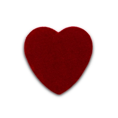 Heart Shaped Candy Box, Truffle Depth, Velvet, 4 oz., QTY/CASE-24