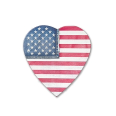 Heart Shaped Candy Box, Denim Flag, 4 oz., QTY/CASE-48