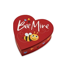 Heart Shaped Candy Box, Bumblebee, 4 oz., QTY/CASE-48