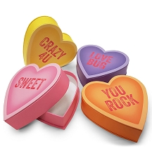 Heart Shaped Candy Box, Bright Heart Talk Group, 4 oz., QTY/CASE-24