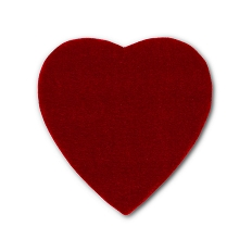 Heart Shaped Candy Box, Truffle Depth, Velvet, 8 oz., QTY/CASE-12