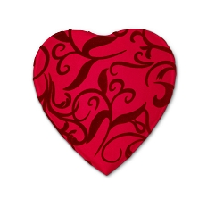 Heart Shaped Candy Box, Passion Ivy, 8 oz., QTY/CASE-12