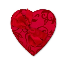 Heart Shaped Candy Box, Bow and Sash, Passion Ivy, 8 oz., QTY/CASE-12