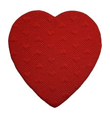 Heart Shaped Candy Box, Quilted, 8 oz., Red, QTY/CASE-12