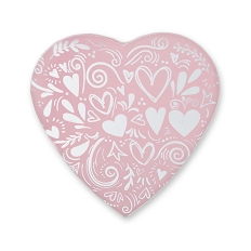 Heart Shaped Candy Box, Princess, Pink, 8 oz., QTY/CASE-24