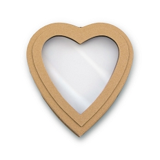 Heart Shaped Candy Box, Window, Coco Passion, Kraft, 8 oz., QTY/CASE-24