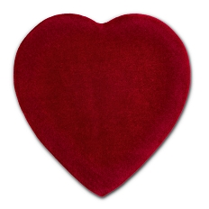 Heart Shaped Candy Box, Truffle Depth, Velvet, 1 lb., QTY/CASE-6