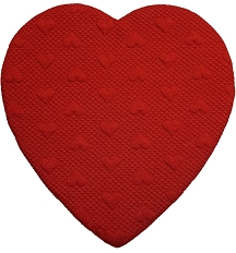 Heart Shaped Candy Box, Quilted, 1 lb., QTY/CASE-6