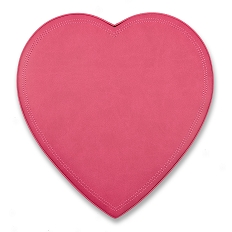 Heart Shaped Candy Box, Leather, Pink, 1 lb., QTY/CASE-6