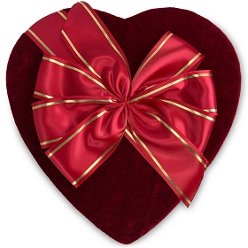 Heart Shaped Candy Box, Bow, Couture, 2 to 2-1/2 lb., QTY/CASE-2