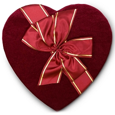 Heart Shaped Candy Box, Couture, 3 lb., QTY/CASE-2