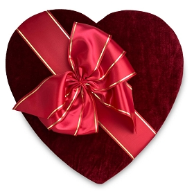 Heart Shaped Candy Box, Couture, 5-6 lb., QTY/CASE-1
