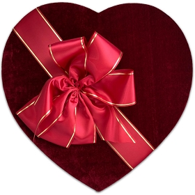 Heart Shaped Candy Box, Couture, 7-8 lb., QTY/CASE-1