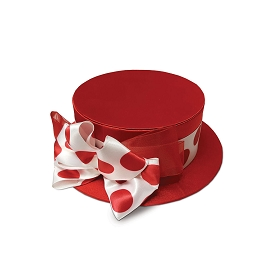 Rigid Set-up Box, Hat Box, Red Delight, Large, QTY/CASE-12