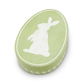 Rigid Set-up Box, Cottontail Bunny, Oval, QTY/CASE-12
