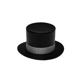 Rigid Set-up Box, Top Hat Box, Mini, Black, Matte Finish, QTY/CASE-12