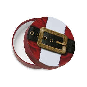 Rigid Set-up Box, Santa Belt, Round, QTY/CASE-12