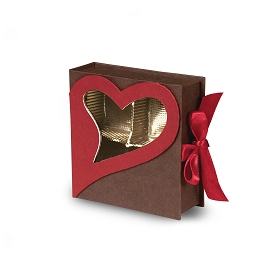 Rigid Set-up Box, Window Box, Coco Passion Open Book Box, Coco, 3 oz., QTY/CASE-24