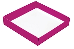 Folding Carton, This Top - That Bottom, Base, 8 oz., Square, Hot Pink, Single-Layer, QTY/CASE-50