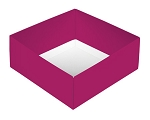 Folding Carton, This Top - That Bottom, Base, 8 oz., Square, Hot Pink, Double-Layer, QTY/CASE-50