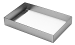 Folding Carton, This Top - That Bottom, Base, 8 oz., Rectangle, Metallic Silver, Single-Layer, QTY/CASE-50