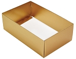 Folding Carton, This Top - That Bottom, Base, 8 oz., Rectangle, Metallic Gold, Double-Layer, QTY/CASE-50