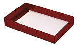 Folding Carton, This Top - That Bottom, Base, 8 oz., Rectangle, Metallic Red, Single-Layer, QTY/CASE-50