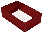 Folding Carton, This Top - That Bottom, Base, 8 oz., Rectangle, Metallic Red, Double-Layer, QTY/CASE-50