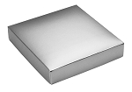 Folding Carton, This Top - That Bottom, Lid, 8 oz., Square, Metallic Silver, QTY/CASE-50