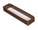 Folding Carton, 5-Piece Base, Standard, Brown, QTY/CASE-50