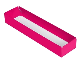 Folding Carton, 5-Piece Base, Standard, Hot Pink, QTY/CASE-50