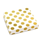 Folding Carton, Lid, 8 oz., Square, Gold Dots, QTY/CASE-50