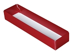Folding Carton, 5-Piece Base, Standard, Red, QTY/CASE-50