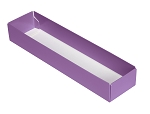 5-Piece Base, with Acetate lid, Standard, Lavender,  8-3/4 x 2 x 1