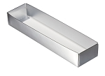 Folding Carton, 5-Piece Base, Standard, Metallic Silver, QTY/CASE-50