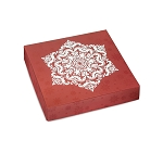 Shimmering Snowflake, Decorative Gift Box, 5-1/2 x 5-1/2 x 1-1/8