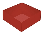 This Top - That Bottom, Base, Square, Crimson Red, Double-Layer, 5-1/2 x 5-1/2 x 2-1/4