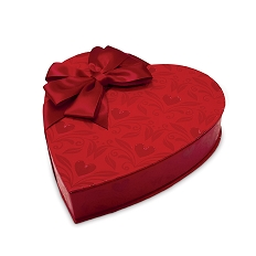 Heart Box, With Love, Bow, 8 oz., QTY/CASE-12