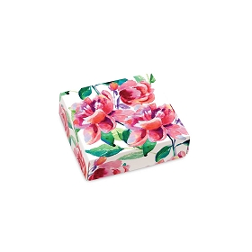 Painted Peonies, Decorative Gift Box, 3-1/2 x 3-1/2 x 1