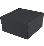 Rigid Set-up Box, Cube, 2-Tier, Black, QTY/CASE-24
