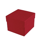 Rigid Set-up Box, Cube, Petite, 2-Tier, Petite, Soft Touch Finish, Red, QTY/CASE-24