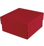 Rigid Set-up Box, Cube, 2-Tier, Soft Touch Finish, Red, QTY/CS-24