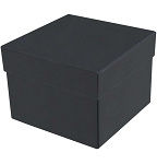 Rigid Set-up Box, Cube, 3-Tier, Black, QTY/CASE-12
