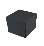 Rigid Set-up Box, Cube, 2-Tier, Petite, Black, QTY/CASE-24