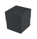Rigid Set-up Box, Cube, Petite, 3-Tier, Matte Finish, Black, QTY/CASE-24