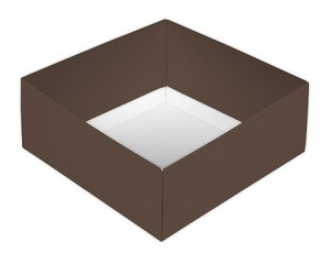 BY THE PIECE, Folding Carton, This Top - That Bottom Base, 8 oz., Square, Double-Layer, Brown