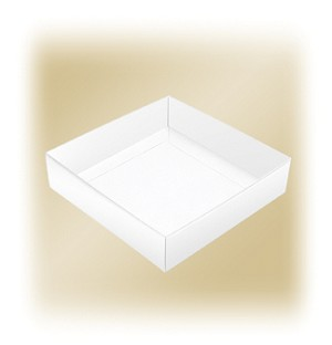 BY THE PIECE, Folding Carton, This Top - That Bottom, Truffle Depth Base, 16 oz., Square, White