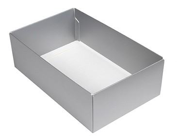Folding Carton, This Top - That Bottom, Base, 8 oz., Rectangle, Silver, Double-Layer, QTY/CASE-50