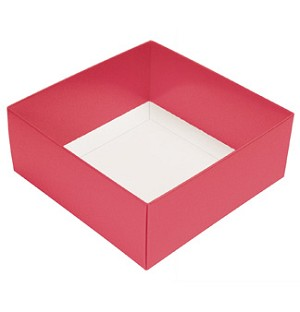 Folding Carton, This Top - That Bottom, Base, 3 oz., Petite, Square, Salmon Pink, Double-Layer, QTY/CASE-50