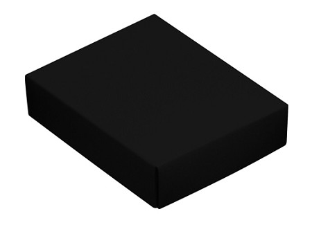 This Top - That Bottom, Lid, Rectangle, Black, 4-1/2 x 3-3/4 x 1